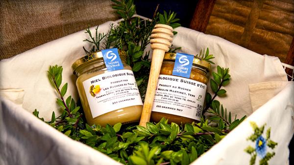 Set de 2 pots de miel de printemps et d'été bio de Thomas Lüthi
