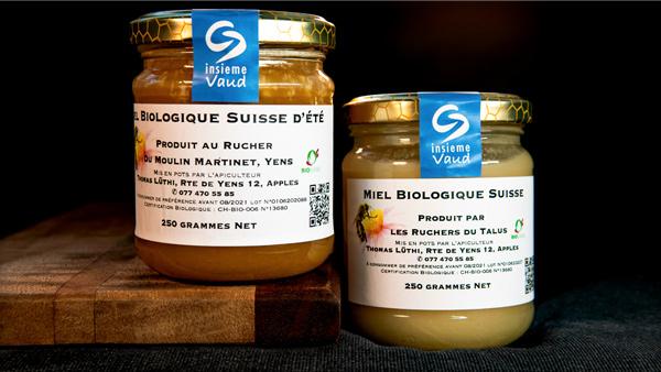 Set de 2 pots de miel de printemps et d'été bio